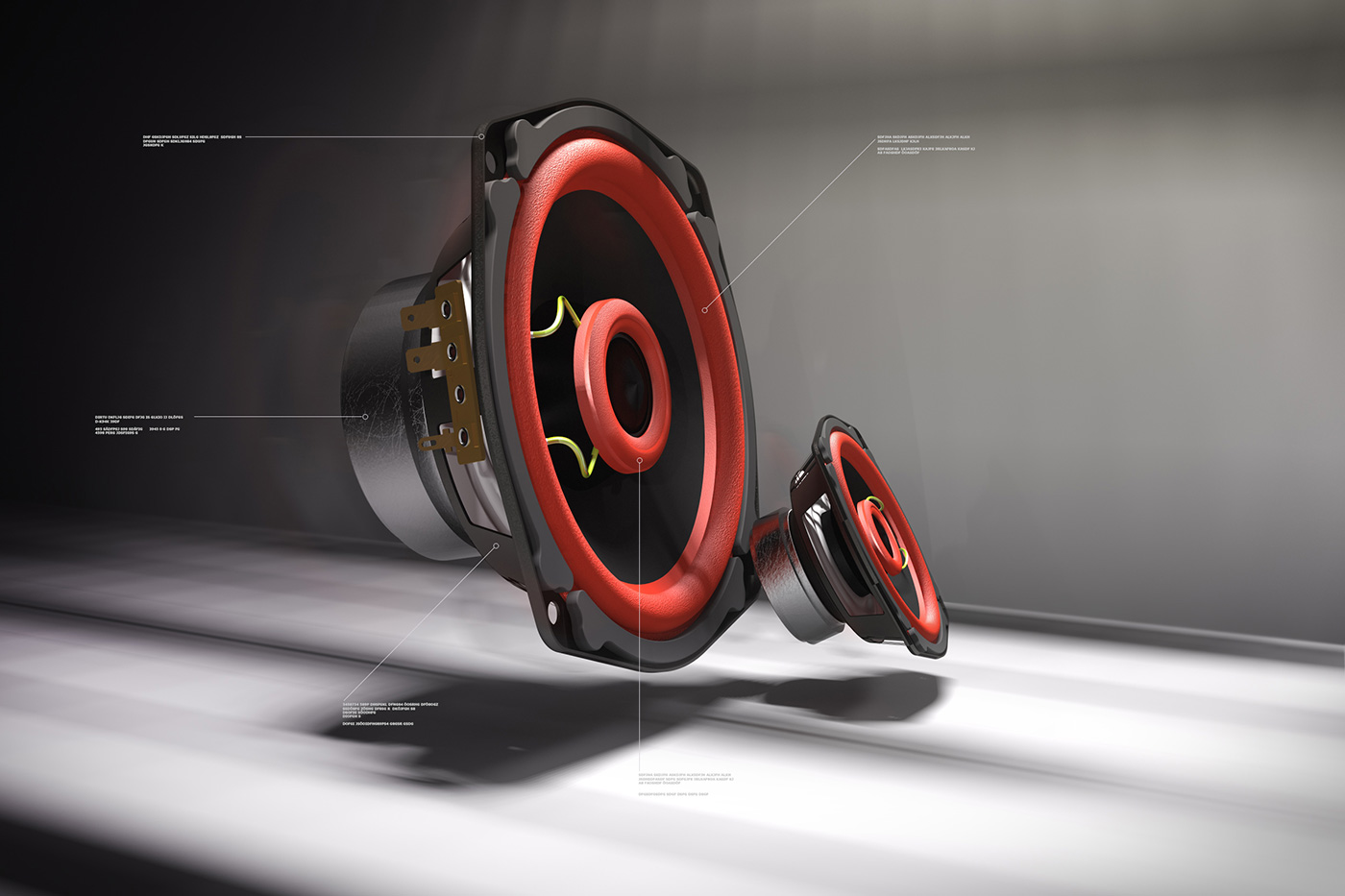 3D Produkt Elektronik Rendering Stefan Eder